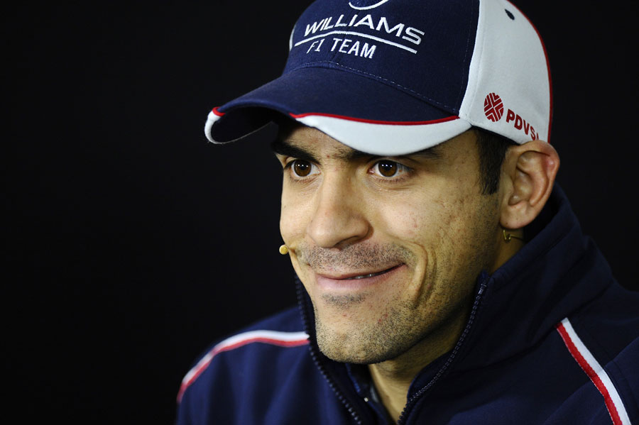 Pastor Maldonado grins his way through the press conference