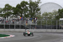 Paul di Resta rounds the hairpin on medium tyres