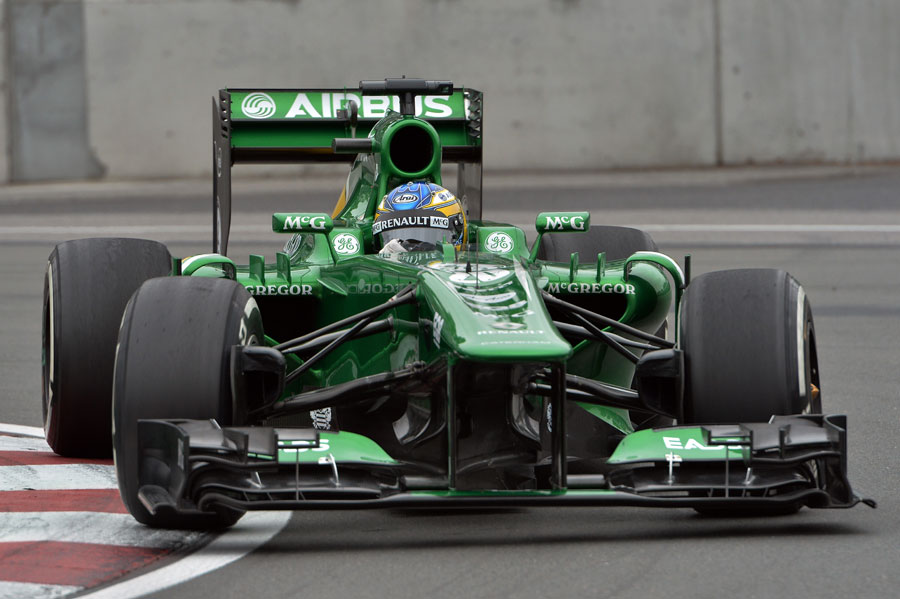 Charles Pic on track in the Caterham