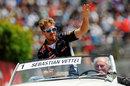 Sebastian Vettel on the driver parade