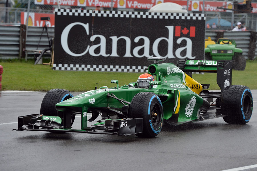 Alexander Rossi on track in the Caterham