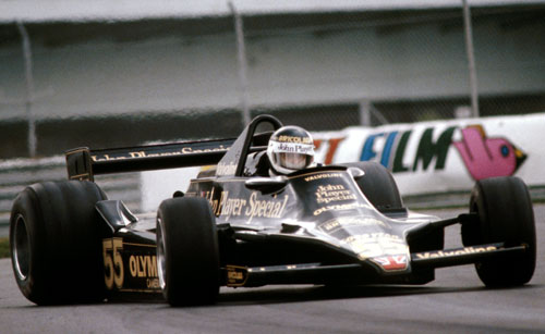 Jean-Pierre Jarier gets his Lotus 79 sideways