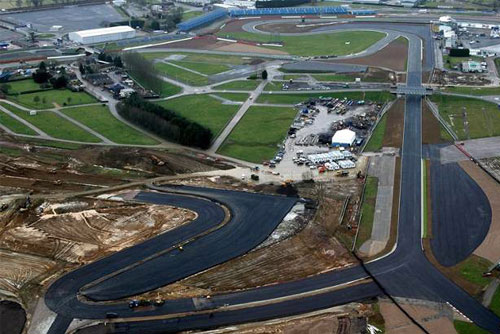 Silverstone's Arena Circuit under construction