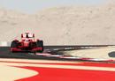 Kimi Raikkonen on track in the Ferrari