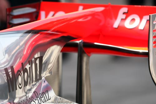 McLaren MP4/25 bodywork detail
