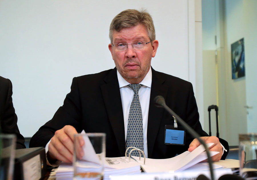 Ross Brawn ahead of the International Tribunal