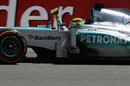 Nico Rosberg crosses the line to take victory