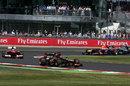 Kimi Raikkonen ahead of Fernando Alonso, Mark Webber and Lewis Hamilton