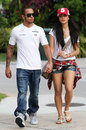 Lewis Hamilton and Nicole Scherzinger head to the circuit