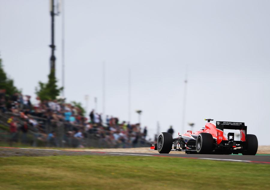 Max Chilton on track in the Marussia