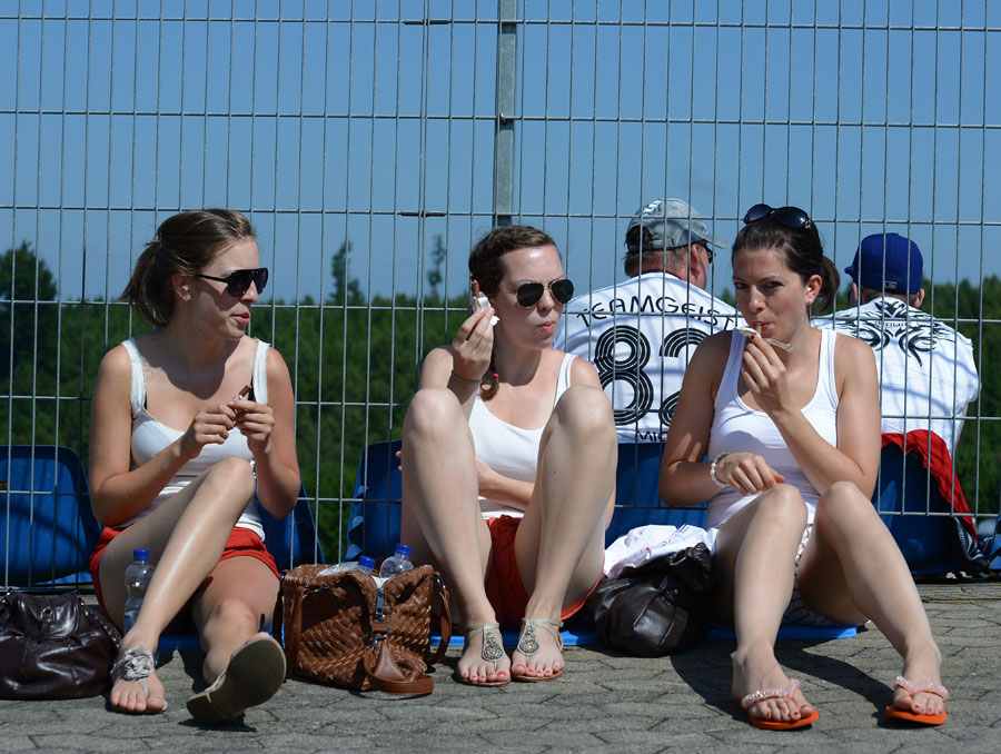 Fans at the Nurburgring