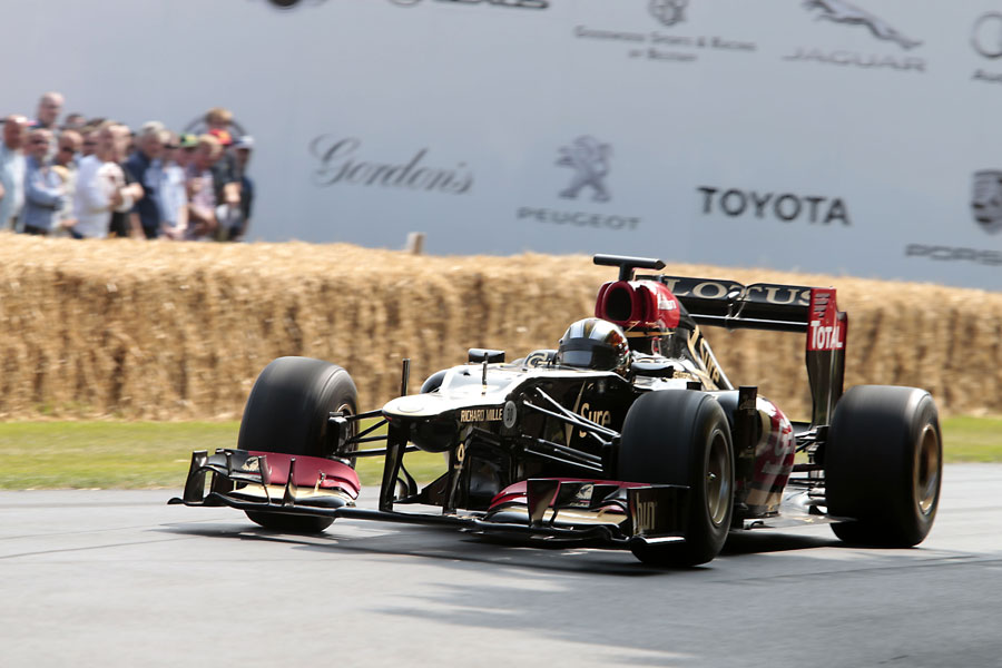 Davide Valsecchi takes on the Goodwood hill climb in a Lotus