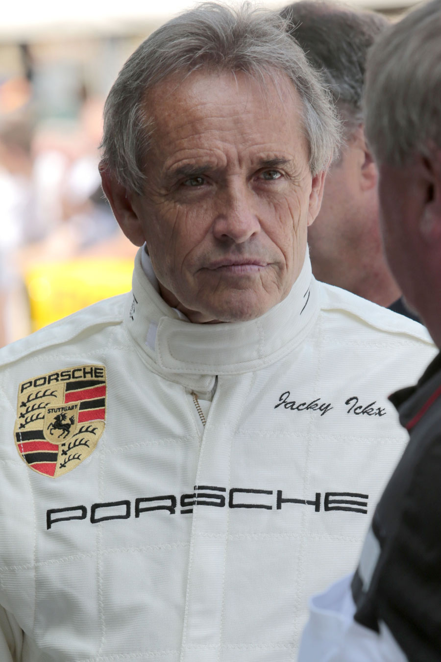 Jacky Ickx in the paddock
