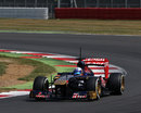 Daniel Ricciardo on track in the Toro Rosso