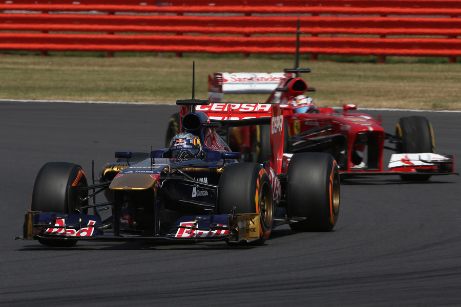 Carlos Sainz Jr leads Davide Rigon
