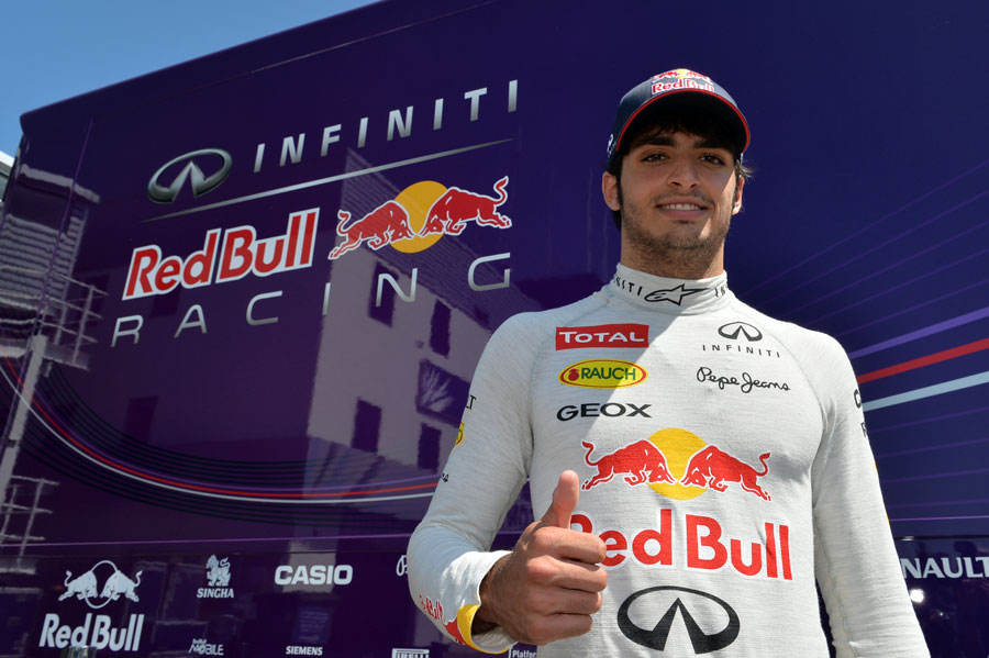 Carlos Sainz Jr following his day driving for Red Bull