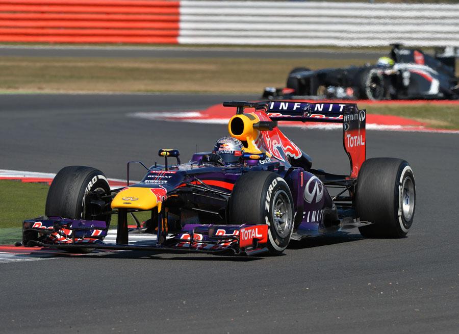 Sebastian Vettel testing tyres for Pirelli