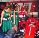 Ferrari's Kamui Kobayashi gets ready for the  Moscow City Racing event