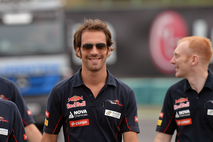 Jean-Eric Vergne during his Thursday morning track walk
