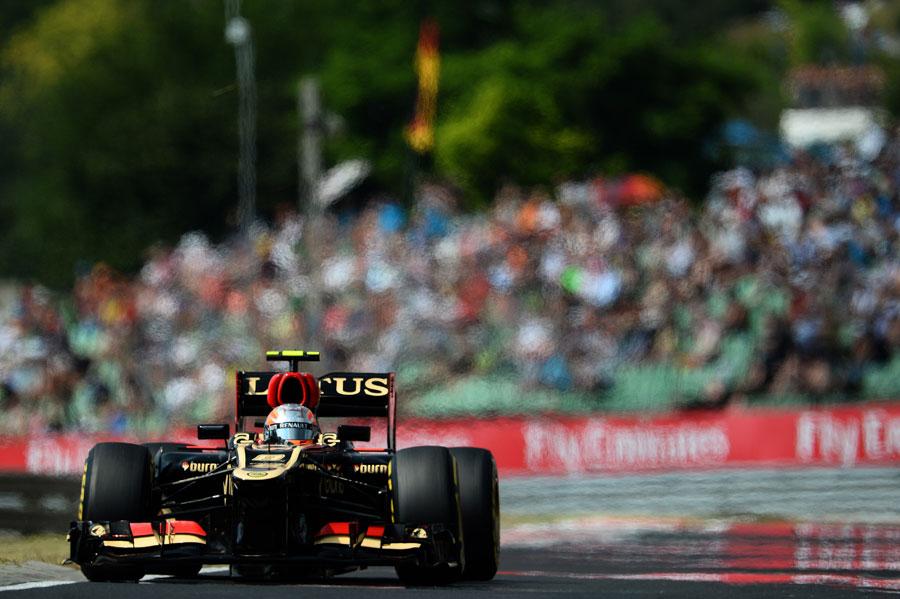 Romain Grosjean on a hot lap