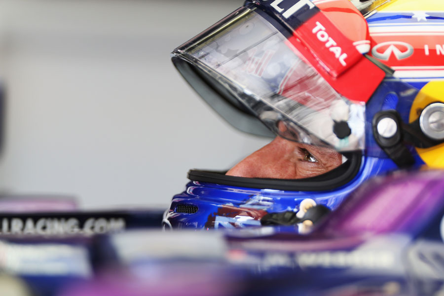 Mark Webber in the cockpit of his Red Bull