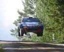 Robert Kubica flies high in his WRC2 car