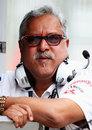 Vijay Mallya on the Force India pit wall