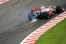 Kovalainen creates sparks at Eau Rouge