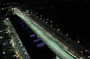 An aerial view of the Singapore night race