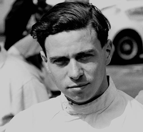 Jim Clark at Monza in 1961