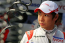 Kamui Kobayashi ahead of his F1 debut at the Brazilian Grand Prix