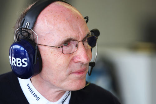 Frank Williams keeps a close watch