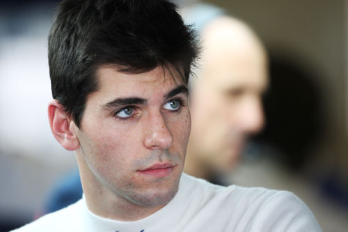 Alguersuari before qualifying at Abu Dhabi