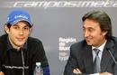Bruno Senna (L) with Campos team principal Adrian Campos