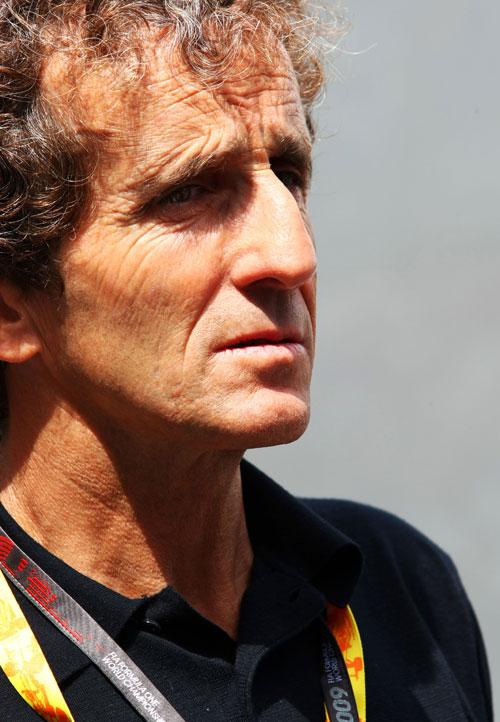 Prost in the Monaco paddock