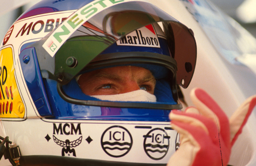 Keke Rosberg prepares for the Austrian Grand Prix