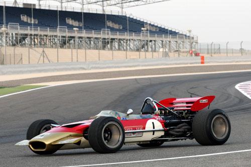 The Lotus 49 of former world champion Jochen Rindt