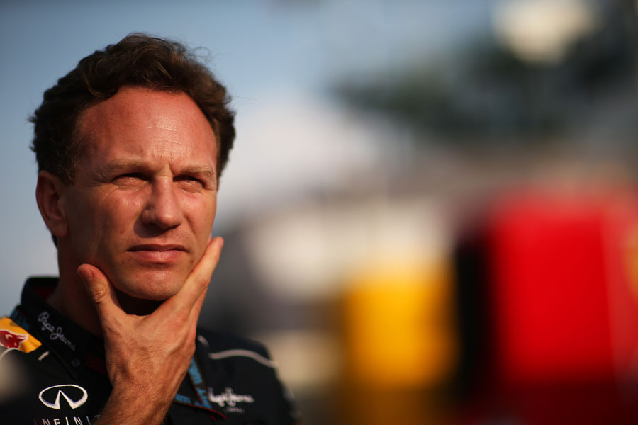 Christian Horner in the paddock