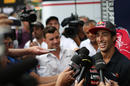Daniel Ricciardo is centre of attention in the paddock