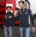 Daniel Ricciardo and Mark Webber share a joke ahead of FP1