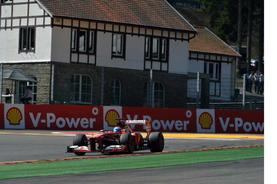 Fernando Alonso exits La Source