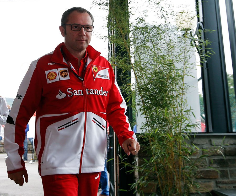 Stefano Domenicali arrives at the circuit on Sunday morning
