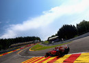 Felipe Massa at the bottom of Eau Rouge
