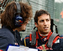 Daniel Ricciardo on the grid