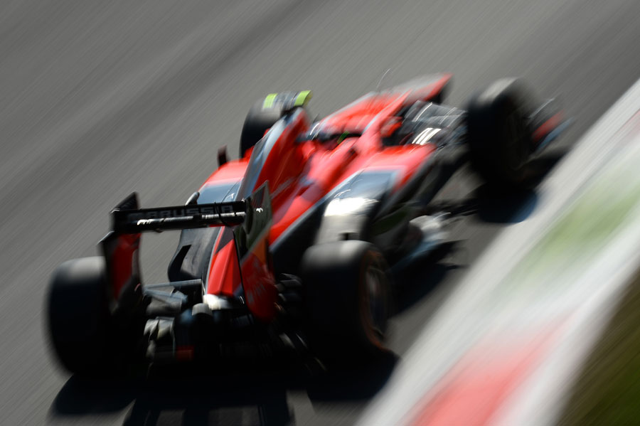 Max Chilton blasts through the Parabolica