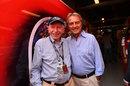 Ferrari president Luca di Montezemolo with John Surtees