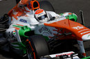 Adrian Sutil in action in the Force India