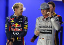 Sebastian Vettel and Nico Rosberg swap stories after qualifying