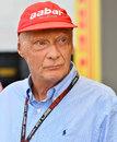 Niki Lauda in the paddock