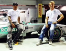 Lewis Hamilton and Nico Rosberg pose for a photo